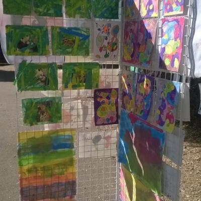 Exposition d'œuvres d'art des élèves